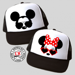 Set Șepci Cuplu - Minnie & Mickey Mouse